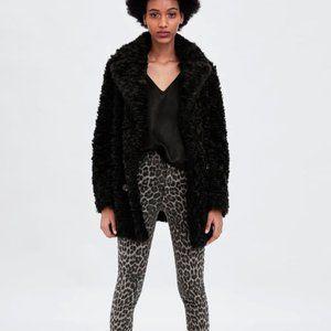 NWOT Zara grey black animal print skinny jeans